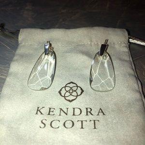 Kendra Scott Maize Drop Earrings in Clear Glass